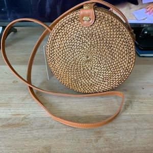 NEW Round Straw Crossbody Bag